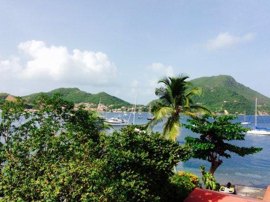 Terre-de-Haut, Guadeloupe: vue de notre chambre