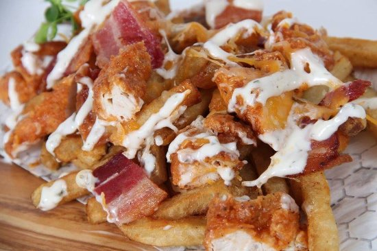 Johns Creek, GA: Cheesy Fried Chicken Fries - YUM!