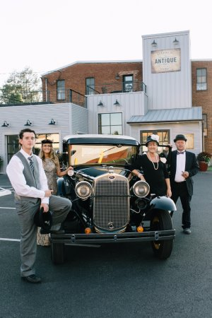 Strasburg, PA: Pictured are the owners in 1930's attire with a fully restored 1930 Model A that is for sale.