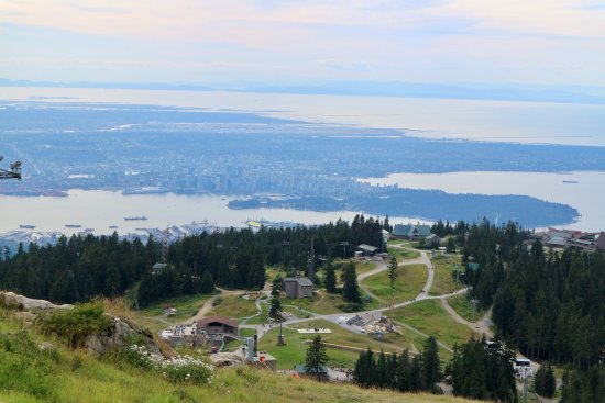 North Vancouver, Kanada: view from the peak