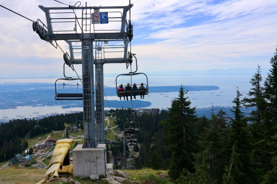 North Vancouver, Kanada: view from chairlift returning