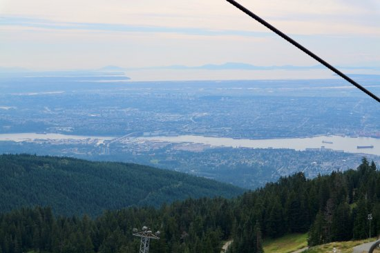 North Vancouver, Canada: chairlift view