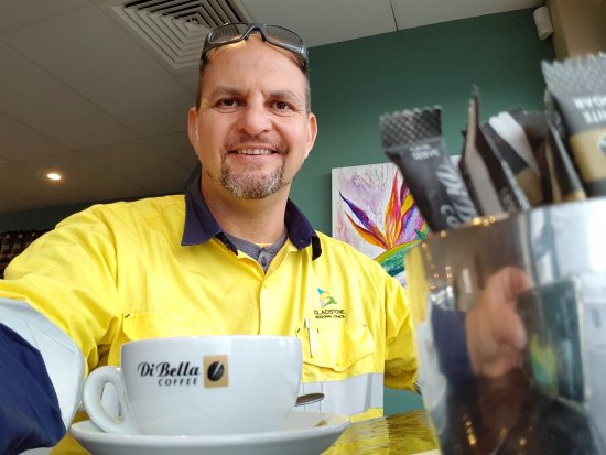 Gladstone, Australia: Showing off the Di Bella Coffee!