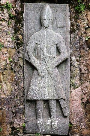 Port Ellen, UK: Pierre tombale de chevalier