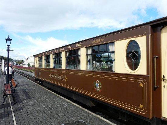 Porthmadog, UK: EXternal view of the Pullman Car