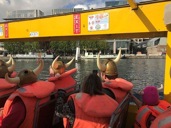 Viking Splash Tours: in the water on Viking tour!