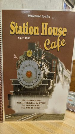 Berkeley Heights, NJ: Station House Cafe menu cover