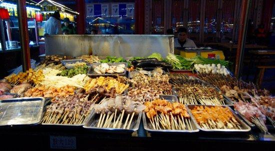 Gulou Square: food