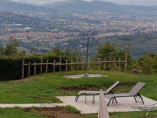 Hotel Badia di Pomaio: Seeing Arezzo from the Hotel