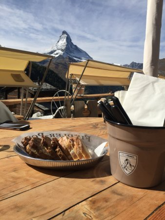 Restaurant Chez Vrony: The Matterhorn from Chez Vrony