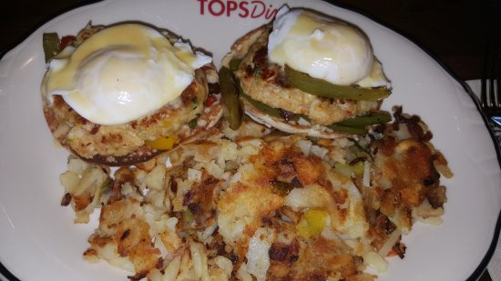 East Newark, NJ: Crab cake Benedict w/home fries