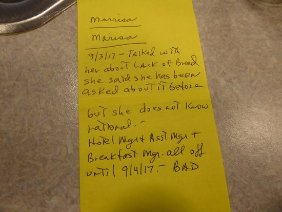 Shilo Inn Suites Hotel - Klamath Falls: Note About Lack of Bread