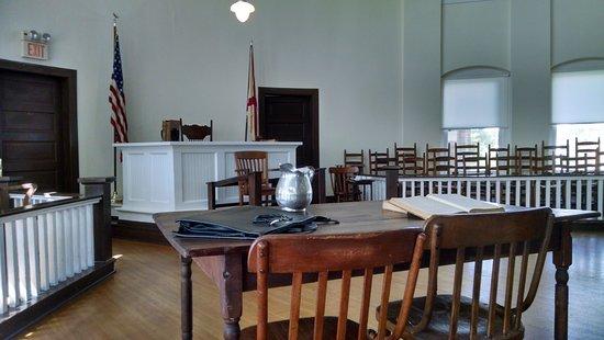 Monroeville, AL: Looking towards the judge's bench