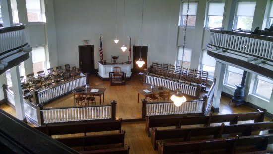 Monroeville, AL: Looking down from the upper gallery