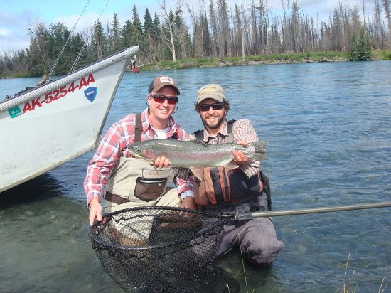 Cooper Landing, AK: Left some time for some trout floating. Little Bern got this beauty.