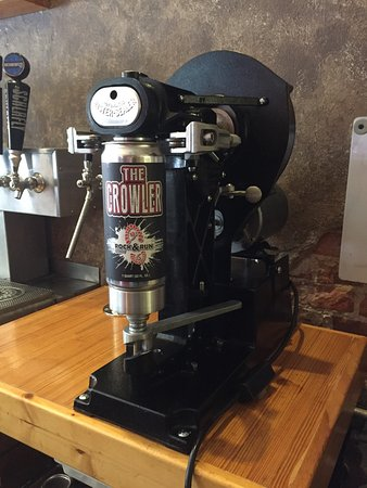 Liberty, MO: Our new Crowler machine! Take home 32 oz!