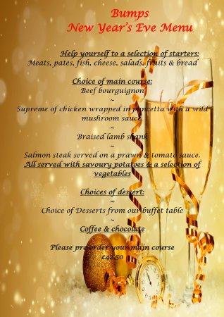 Alderney, UK: New Year's Eve Menu