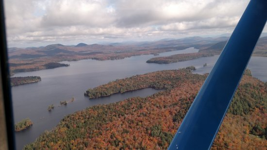 Inlet, NY: The view from the plane