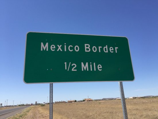 1/2 mile marker north of Mexican border just south of Columbus, NM.