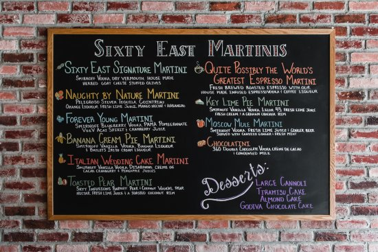 Ellenton, ฟลอริด้า: Just some of our martinis 2 for 1 from 3-6pm