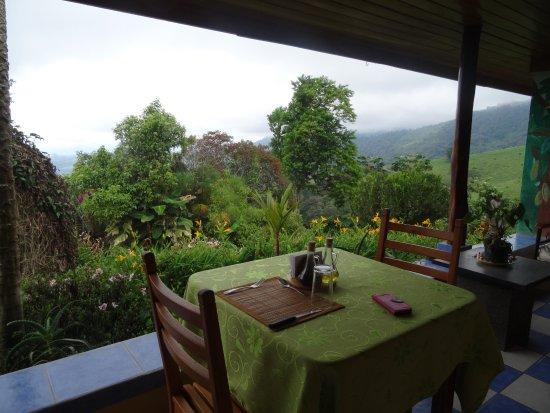 Turrialba, Costa Rica : Breakfast table view.
