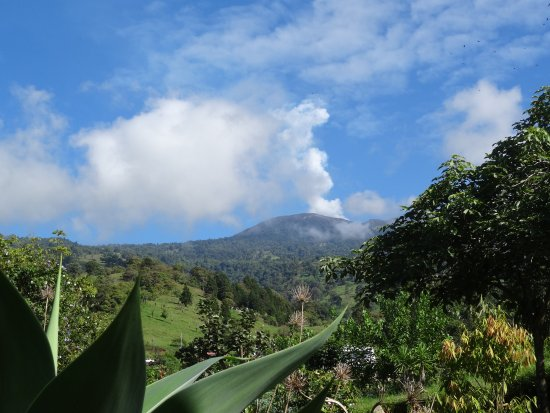 Volcano Turrialba from the lodge.