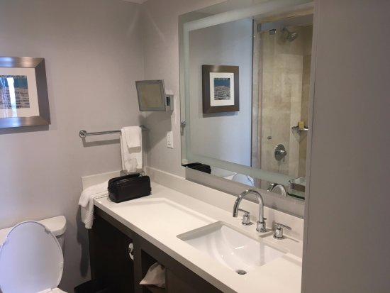 Doubletree by Hilton Torrance - South Bay: Large vanity and lighted mirror