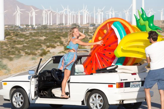 Stopped by Palm Springs Windmill Farm before heading for an endless Summer fun by the pool