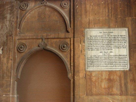 Sidi Saiyed's Mosque: Particolare descrittivo dell'epoca