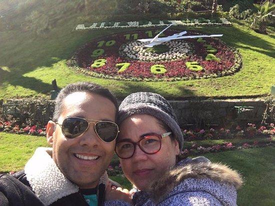 Flower Clock (Reloj de Flores): Com minha esposa