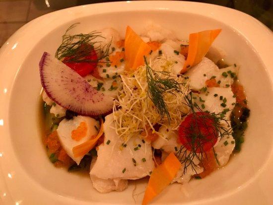 L'Incontournable: Cabillaud et legumes en boullion Tartar de Thon