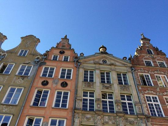 Danzica, Polonia: bâtiments du centre ville