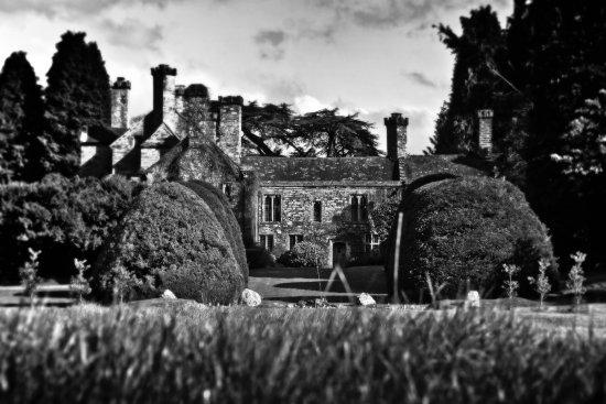 Llanrwst, UK: View of the Castle from the Dutch Garden