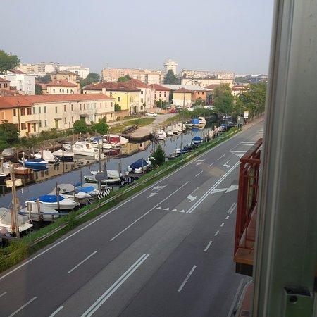 Hotel San Carlo: view from balcony toward centre town
