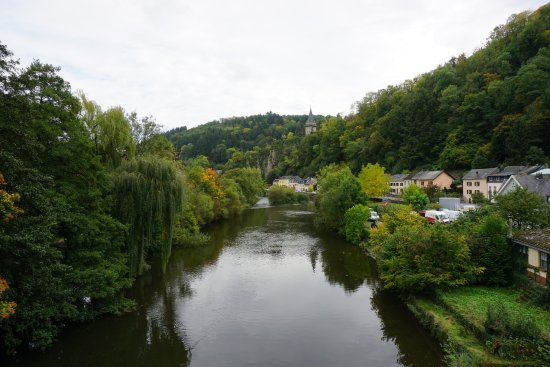Vianden, Luxemburg: River view from chairlift