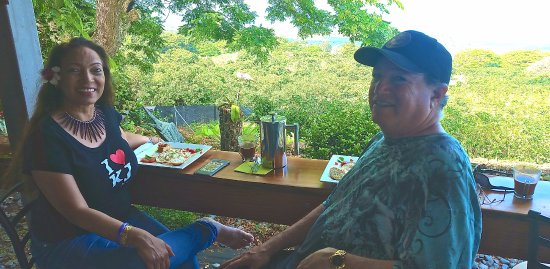 Kealakekua, HI: Enjoying a french press Kona Joe with spectacular views