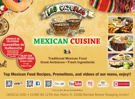 Las Cazuelas Mexican Restaurant In Miami Authentic Mexican