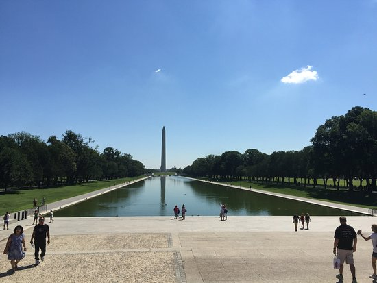 Bike and Roll DC: Across the Mall at The Reflecting Pool