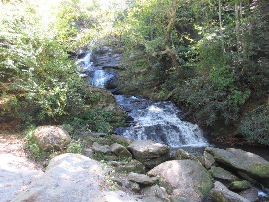 Dillard, GA: One of the waterfalls on property.