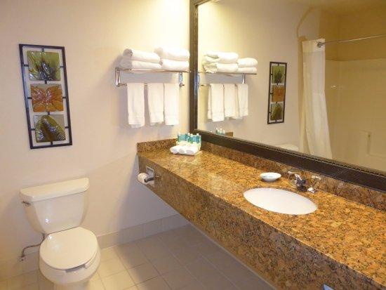 Arcata/Eureka Holiday Inn Express: Large Bathroom Counter