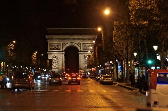 arc de triomphe along champs elysees picture of champs elysees paris tripadvisor. Black Bedroom Furniture Sets. Home Design Ideas