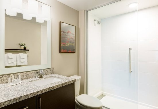 Milpitas, Kaliforniya: Suite Vanity & Bathroom Area