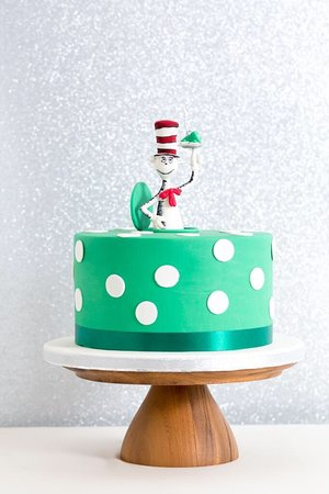 Pleasing The Cat N The Hat Birthday Cake Inspired By Dr Seuss Picture Of Personalised Birthday Cards Veneteletsinfo