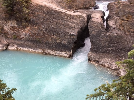 Natural Bridge: roaring water of the Kicking Horse River