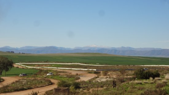 Ceres, South Africa: Snowcap mountain in distance