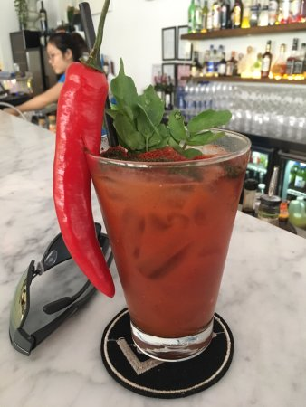 Lubu Restaurant: a perfect bloody-mary - don't let the chili scare you!