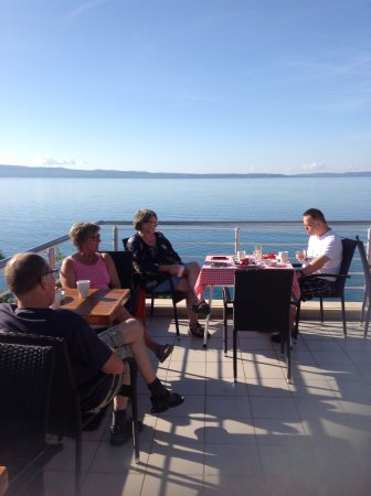Stobrec, Croatia: Top terrace