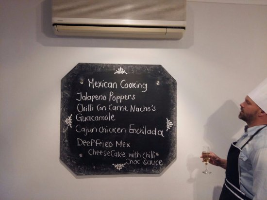 Durbanville, جنوب أفريقيا: The Mexican menu