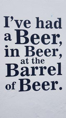 Beer, UK: Outside writing