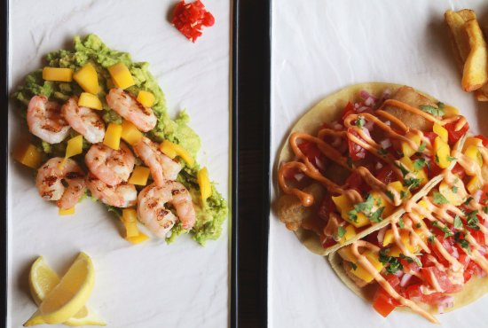 Rathgar, Irlanda: King Prawns and Fish tacos